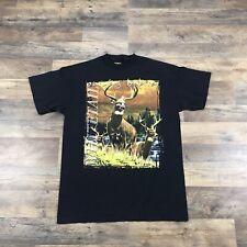 Vintage Deer Hunting T-Shirt Short Sleeve Men's Size Large Whitetail Nature Yeee
