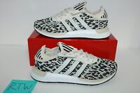 New Women's Adidas Swift Run X Leopard Size 9US Shoes (FY2998) Black White DS
