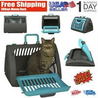 Cat Carrier Foldable Travel  Front Door Plastic Collapsible Carrier Cat Supplies