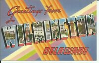 Greetings From Wilmington Delaware Large Letter Postcard