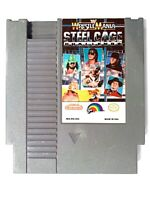 Wrestlemania Steel Cage Challenge WWF ORIGINAL NINTENDO NES GAME Tested WORKING