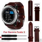 Luxury Leather Strap Replacement Watch Band With Tools Kit For Garmin Fenix 3 HR