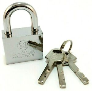 30mm Security Heavy Duty Padlock Steel Silver Outdoor gate shed Lock (CH)