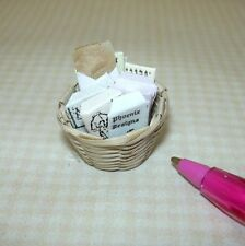 "Miniature ""Shadow Box"" Basket of Victorian Patterns #3:  DOLLHOUSE 1/12"