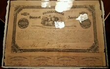 $1000 Confederate Bond issued in 1862 in Excellent condition