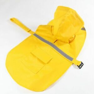 Dog Raincoat Clothes Hooded Reflective Jacket Waterproof Protective Puppy Travel