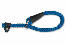 "Ancol Softweave Rope Slip Lead 12mm x 48"" Blue AN681240"