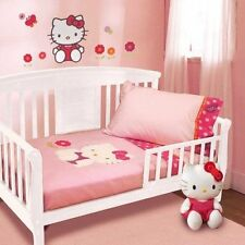 NIP Lambs & Ivy Hello Kitty Garden 4pc Toddler Bedding Set