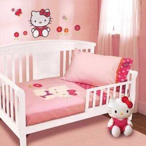 NIP Lambs & Ivy Hello Kitty Garden 4pc Toddler Bedding Set