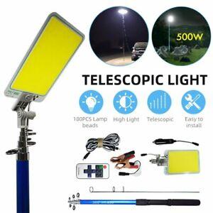 12V Portable Telescopic Light Fishing Rod Pole Camping Lamp Car Repair LED Light
