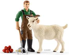 SCHLEICH®  Farm World 42375   Bauer mit Ziege, NEU & OVP