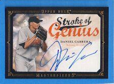 2008 Upper Deck Masterpieces Stroke of Genius Signature #DC Daniel Cabrera