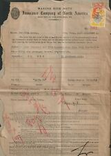 Hong Kong 1941 KGVI Stamp Duty 50c Used on Marine Risk Note for Macao to Saigon