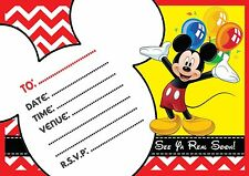 micky mouse invitations