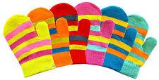 3x Baby Toddler Mittens Gloves Stripe Design Boys & Girls Colours Winter