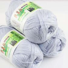 Sale Lot 3 ballsx50g Super Soft Bamboo Cotton Baby Hand Knitting Crochet Yarn 28