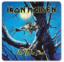 Iron Maiden Fear of the Dark cork-backed drinks coaster (lsh)