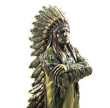 Native American Indian Chief Figure Male Statue Figurine Redskin Sculpture NEW