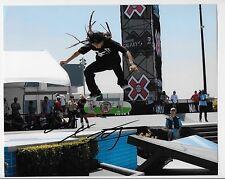 Nyjah Huston signed Skateboarding X Games 8x10 Photo
