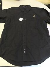 Men's Johnie Walker  Scotch Black Button Down Shirt Size Large