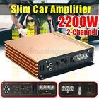 2-Channels 2200W Car Power Amplifier Class A/B Car Audio Stereo Subwoofer Amp