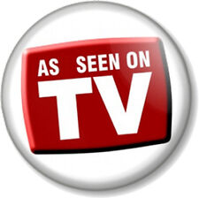 """AS SEEN ON TV 1"""" 25mm Pin Button Badge Novelty Badge Reality Star Famous Funny"""