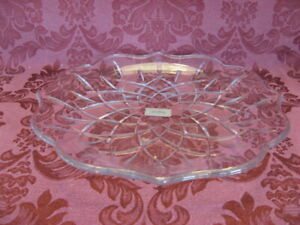 """Gorham Lady Anne Crystal 14"""" Tray - Excellent!"""