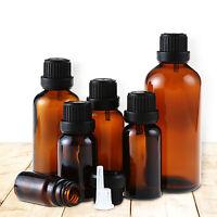 5/10/15/20/30ml Amber Glass Empty Bottle Essential Oils Liquid Bottles Container