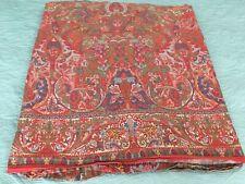 Ralph Lauren Red Galahad Aragon Medieval Cotton Sateen Queen Flat Sheet