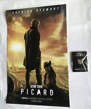 2019 SDCC COMIC CON EXCLUSIVE CBS STAR TREK PICARD FAMILY CREST PIN & POSTER
