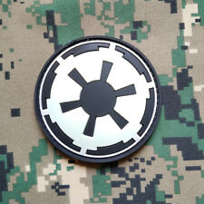 Glow Dark Star Wars Galactic Empire Insignia Imperial Logo PVC Rubber Hook Patch