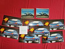 R.235  : RENAULT 11 ; lot de 7 cartes essais Suisse 1983 + 2 autocollants 1987