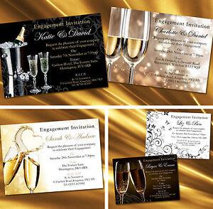 Personalised Engagement Invitations Invites