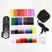 34 IN1 Full Gradual ND 2/4/8 Color Square Filter Adapter Ring Kit for Cokin P