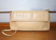 Rene Lezard Tasche, edle Luxus Handtasche, Clutch, Leder beige, 100 % Original