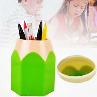 Mini Pencil Pot Holder Pen Storage Stationery Gift Cup Makeup Brush Box Green GA