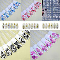 108 Silver Flower Nail Art Stickers Decals Decorations Transfers 3D Design Form
