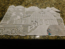 Heritage Lace City Barn with Mailbox White Placemat • NWT
