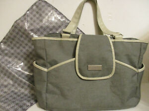 Baby Fashion Flap Tote Diaper Bag - Just One You™ Made by Carter's® Gray  EC