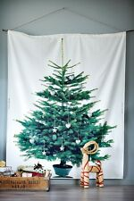 Ikea Christmas Tree Fabric Vinter 2014 Spruce/White/Green 220x150cm Brand New