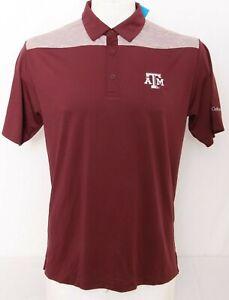 NEW Texas A&M Aggies Maroon Columbia Omni-Wick Utility Polo Shirt Men's L