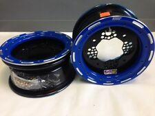 DWT ROK'N LOCK Front Blue Beadlock Rims 10 10x5 4/156 3+2 Yamaha YFZ450R YFZ450X