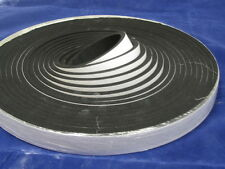 NEOPRENE RUBBER SPONGE STRIP 12mm x 3mm self adhesive backed 10mtr coil