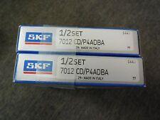 NEW SKF SUPER PRECISION BEARING SET # 7012 CD/P4ADBA