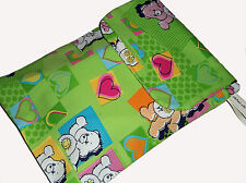 Baby Care Bear Fabric Nappy Diaper & Wipes Changing Travel Pouch Case Bag