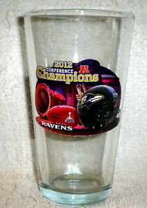 BALTIMORE RAVENS 2012 AFC CHAMPS pint GLASS SUPER BOWL 47 XLVII