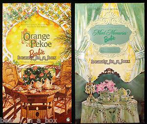 "Orange Pekoe Barbie Doll Mint Memories Victorian Tea Porcelain COA Lot 2 NRFB D"""