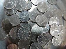 Lot de 50 pièces 50 centimes 1/2 Franc SEMEUSE NICKEL