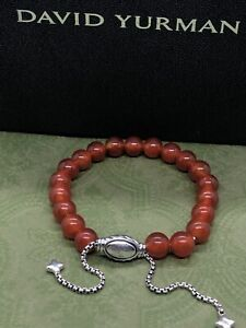 DAVID YURMAN Spiritual Bead Bracelet Sterling Silver With Carnelian