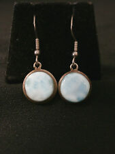 Unique Vintage Sterling Silver Turquoise Dangle Earrings Make Offer! #1094